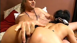 Asian granny blows sugar-plum of a..