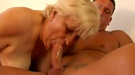 Disgusting meaty blonde haired mature..