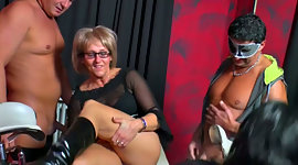 Impish mature MILFs fuck at the dirty..