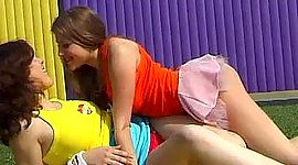 Hypnotizing gay girl nubiles fuck each..