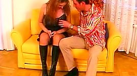 Tall buxom European seductress getting..