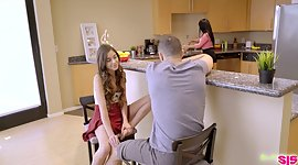 Bratty stepsister Annie Foxxx seduces..