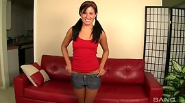 Cute teenager with pigtails Missy Maze..