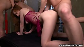 Asian tied up babe Aimi Ichijo gets..