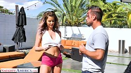Lustful bird in shorts Emily Addison..