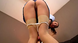 Uninhibited chick in stockings takes..
