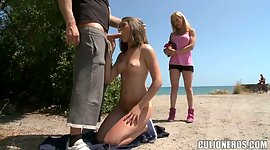 Violent blond chick Lara is fucked by..