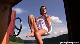 Young buxom girlfriend Anabelle is..