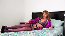 Red haired woman over Fifty Cyndi..
