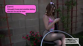 Stimulating teen with pigtails Danni..