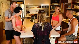 Kitchen is the place where milfs and young chicks can realize their most dirty wishes. Moreover, they like to play with big rods.