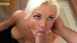 Blue eyed light-haired sexy patriarch