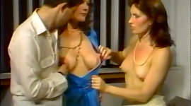 Lewd vintage secretaries flash their..