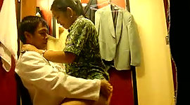 Virtuous Asian brunette wifey gets..