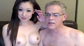 Hilarious normal haired Asian wifey..
